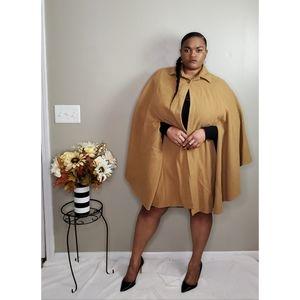 Harve Benard Wool Cape Size XL